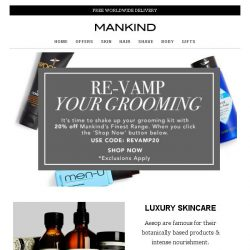 [Mankind] Re-Vamp Your Grooming
