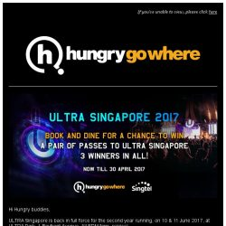 [HungryGoWhere] 3 pairs of ULTRA Singapore 2017 2-day passes up for grabs!