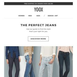 [Yoox] The Denim Guide: find your perfect jeans