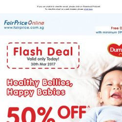 [Fairprice] 1 Day Flash Deal: 50% + $7 OFF for Dumex Mamil Gold Step 2/3!