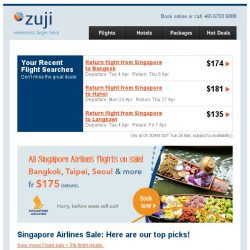 [Zuji] Hong Kong on Singapore Airlines from only $236 (return)!