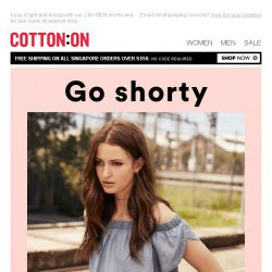 [Cotton On] Go shorty