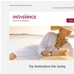 [Mövenpick Hotels & Resorts] Stay & Save offer: Up to 30% off + free breakfast & late check-out!