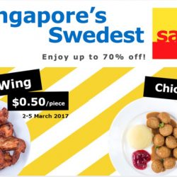 IKEA: Singapore Swedest's Sale Up to 70% OFF + $0.50 Chicken Wing & $1 for 10pcs of Chicken Balls!