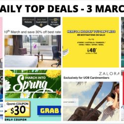 BQ's Daily Top Deals: Marina Mandarin 30% OFF Room Rates, New Taxi Coupon Codes, 1-for-1 Pepper Lunch, Scoot's Flash Sale, H&M Sale & More!