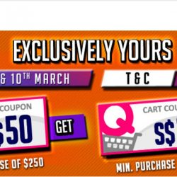 Qoo10: $3 + $50 Cart Coupons Up for Grabs & Thursday Power Deals!