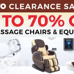 OTO Bodycare: Warehouse Sale Up to 70% OFF All Massage Chairs, Portable Massagers & Fitness Equipment