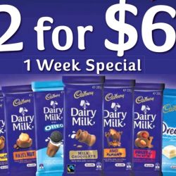 Cadbury: Buy 2 Blocks of Dairy Milk Chocolate for $6 at Major Supermarkets!