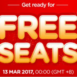 AirAsia: Get Ready for FREE Seats on 13 March 2017!