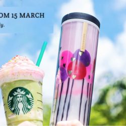 Starbucks: Purchase Limited Edition Starbucks Balloon Tumbler & Get the NEW Green Tea Strawberry Blossom Frappuccino® FREE + Additional FREE Drink Voucher!