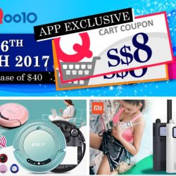 Qoo10: $8 Cart Coupon Up for Grabs + Deals on Robot Vacuum Cleaner, Xiaomi Smart Walkie Talkie & More!