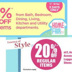 BHG: 20% OFF Regular Items from aLT, Fashion, Bath, Bedroom, Dining, Living, Kitchen & Utility Departments!
