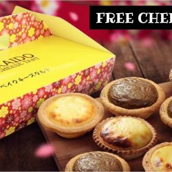Hokkaido Baked Cheese Tart: Flash Screenshot for a FREE Original Cheese Tart at Changi City Point on 24 March 2017!