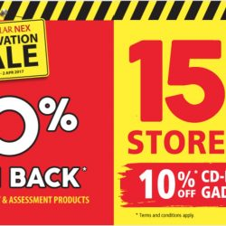 POPULAR: Nex Renovation Sale with 50% Cashback on Selected Stationery & Assessment products, 15% OFF Storewide & 10% OFF on CD-RAMA and Gadgets & IT products!