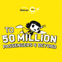 Scoot/Tigerair: 50 Million Passengers Sale + Up to 10% OFF Selected FlyBag/FlyBagEat Fares!