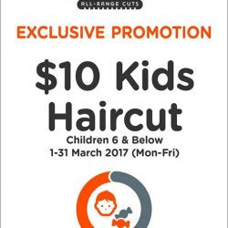 [EC House Express Cut] Do not miss this exclusive promotion of $10 Kids Haircut at Compass One outlet.