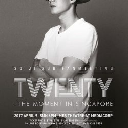 [SISTIC Singapore] Tickets for So Ji Sub Fan's Meet and Greet TWENTY: THE MOMENT IN SINGAPORE go on sale now.