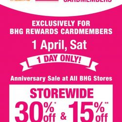 [BHG Singapore] Exclusively for BHG Rewards Cardmembers!