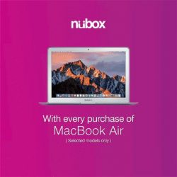 [Nübox] Receive gifts worth $109 and enjoy $70 savings when you purchase a MacBook Air.
