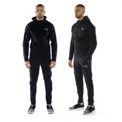 [DOT Singapore] PUMA Active Men's Evostripe SpaceKnit Full Zip Hoodie: This stretchy hooded jacket offers moisture-wicking, breathable performance to keep