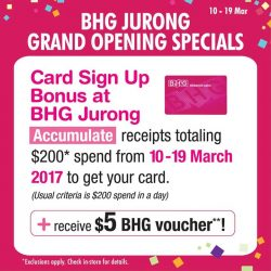 [BHG Singapore] Get your chance to be our BHG Rewards Cardmembers to earn points & know the latest promotions with the exclusive SIGN