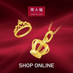 [Chow Tai Fook Singapore] Have always been longed for hassle-free shopping at Chow Tai Fook Singapore, with your fav jewellery pieces delivered to