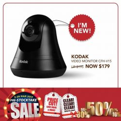 [Home-Fix Singapore] KODAK Video Monitor lets you check on, talk to and capture memories while you're away!