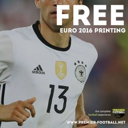 [Premier Football Singapore] FREE NAME AND NUMBER PRINTING with the purchase of any Euro 2016 Home/Away Jersey.