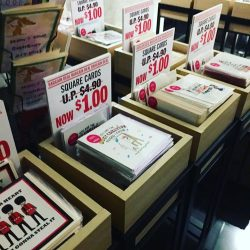 [The Paper Stone Signature] Square Greeting Cards are on sale at Nex store.