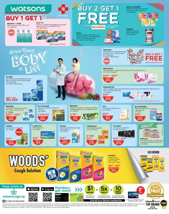 [Watsons Singapore] Enjoy incredible BUY 2 GET 1 FREE deals across participating brands like Aveeno, Original Source and more!  - 👑BQ.sg BargainQueen