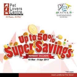[Pet Lovers Centre Singapore] Super Savings 50% Off Pet products!