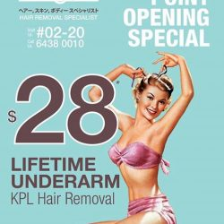 [Regina] Just a few more hours before our lifetime underarm hair removal promotion ends.