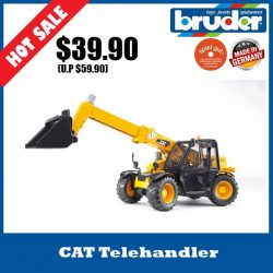 [The Collector] School Holiday Promotion @ The Collector Bruder 02141 CAT TelehandlerThe CATERPILLAR Telehandler is a true all-rounder.