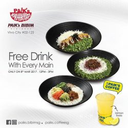 [Paik's Bibim] For all oppas & Unnies at Vivocity, a beautiful day for a soda to go with your Korean cuisine today!