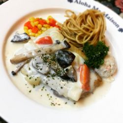 [Ma Maison Restaurant Singapore] Today's Daily Lunch at Ma Maison at Bugis Junction isDory Fish with Mushroom Cream SauceComes with Soup,