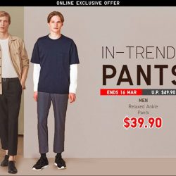 [Uniqlo Singapore] The Men's Relaxed Ankle Pants come with an elastic waist, making them incredibly comfortable without compromising on style.