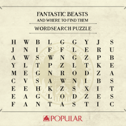 [POPULAR Bookstore] Yes, the words are Fantastic, Beasts and Niffler!