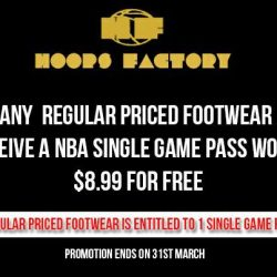 [Hoops Factory] This promotion is available @ Hoops Factory Lucky Plaza / Kallang Wave / Bugis Junction / Queensway / Jurong Point / Tampines 1For further details,