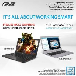 [ASUS] ASUS is going to Republic Polytechnic today and do remember to check out the amazing deals we have for you