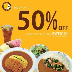 [Cocoichibanya Singapore] Enjoy up to 50% off when you make a reservation at any CoCoICHIBANYA outlets (except Raffles City) on Eatigo!