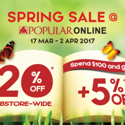 [POPULAR Bookstore] Only a few days left before the Spring Sale @ POPULAR Online ends!