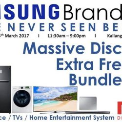 [Mega Discount Store] Samsung Brand Fair 23rd March 2017 to 26th March 2017 Leisure Park Kallang Atrium Roadshow Massive Discounts | Extra Free Gift |