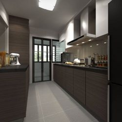 [Elegance Concept] Project location: 206 Ang Mo Kio Street 21Monochromic home with a slight pop of colors which gives a refreshed