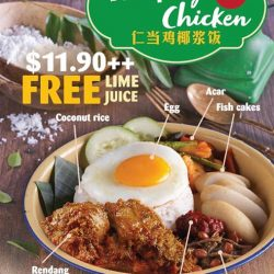 [One KM] Pop by Curry Times 01-70/72 and try their new Nasi Lemak with Rendang Beef / Rendang Chicken set today!