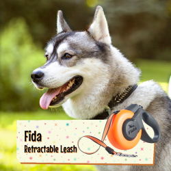 [Pet Lovers Centre Singapore] The latest Fida Mars retractable leash is spunky and futuristic looking with its sleek curves and bright colour.