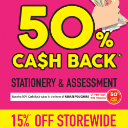 [POPULAR Bookstore] Want to get your CASH BACK while you shop?