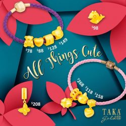 [TAKA JEWELLERY] Enthralling 999 Gold charms to surprise you.