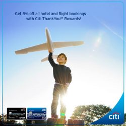[Citibank ATM] Get 8% off at over 160,000 hotels and 300 airlines when you book your next trip via Citi ThankYouSM