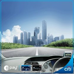 [Citibank ATM] Drive through 10 ERP gantries for FREE* when you sign up for EZ-Pay today.