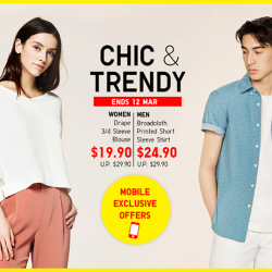 [Uniqlo Singapore] Count on UNIQLO for outfits that can be worn at both casual and more dressy events.